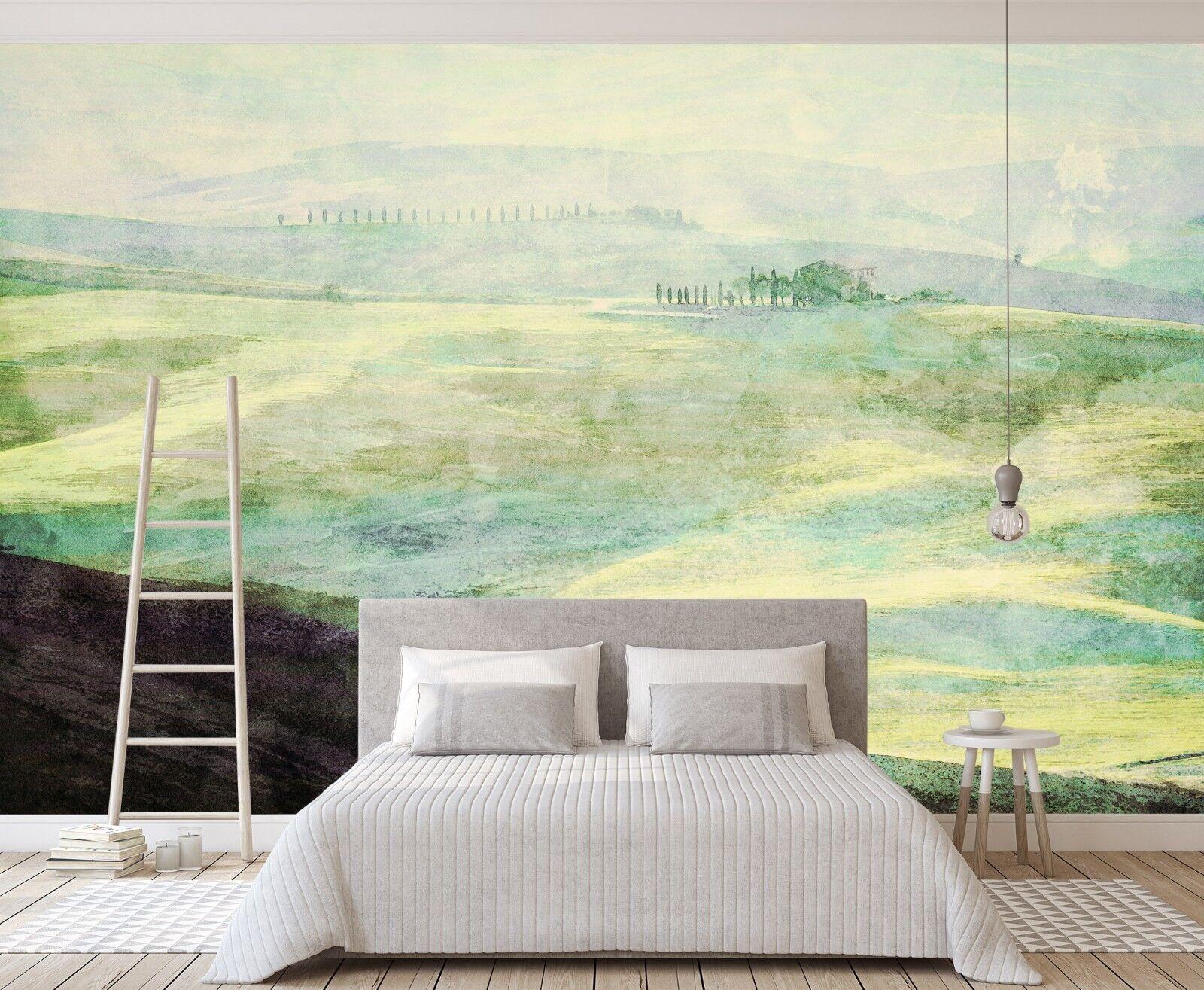 3D Grassland 837 Wall Paper Murals Wall Print Wall Wallpaper Mural AU Summer