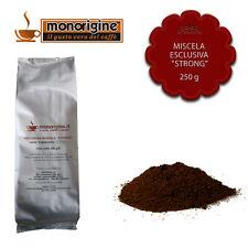 Caffè macinato fresco per espresso Miscela Esclusiva Strong 250 gr