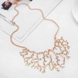 Fashion-Women-Vintage-Jewelry-Bib-Coral-Branch-Pendant-Chain-Statement-Necklace