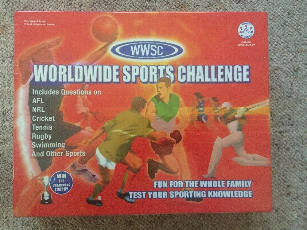 Worldwide Sports Challenge WWSC Board Game Crown & Andrews 2003 SEALED AFL