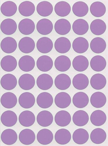 Color Coded Round Circle Stickers Assorted Colors Permanent Adhesive Dot Labels