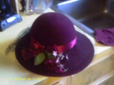 IMPORTINA Shabby Chic Bucket Fedora Fur Hat