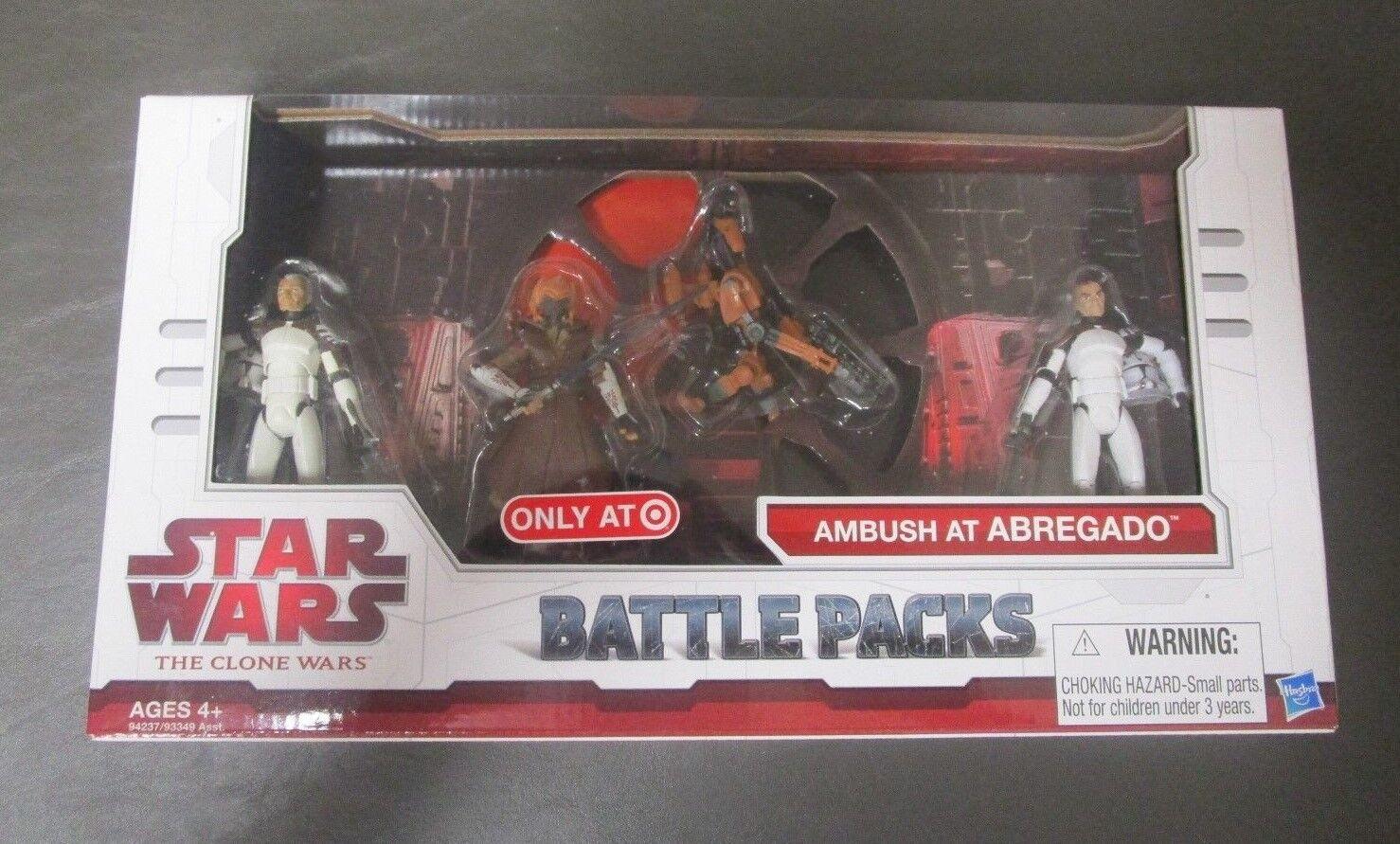 Emboscada en Abregado Star Wars Paquetes de paquete de batalla los Clon Wars Tcw Target Menta en caja