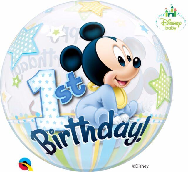 Bebe Disney Mickey Mouse 55 9cm Qualatex Burbuja Globos Fiesta