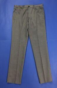 Miu-miu-pantalone-uomo-usato-W34-tg-48-grigio-riga-straight-boyfriend-slim-T4095