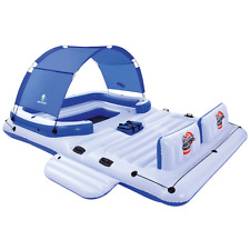 Inflatable Floating Island Cup Holder Drinks Sun Shade Cooler Bag Lounge Vinyl