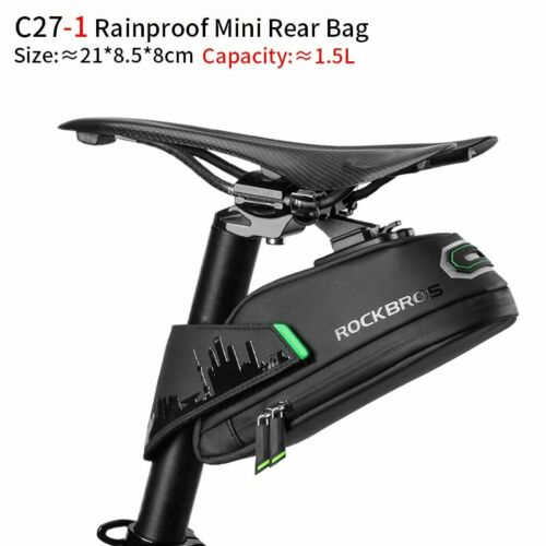Rainproof Bicycle Bag Shockproof MTB Bike Saddle Refletive Rear Large Seatpost