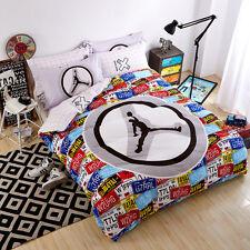 NEW  Jordan Basketball Queen Bedding sets Bed sheet Duvet cover 4pcs NBA