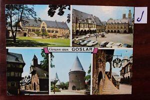 Brillant Carte Postale Vue Carte Basse-saxe Grus De Goslar-afficher Le Titre D'origine