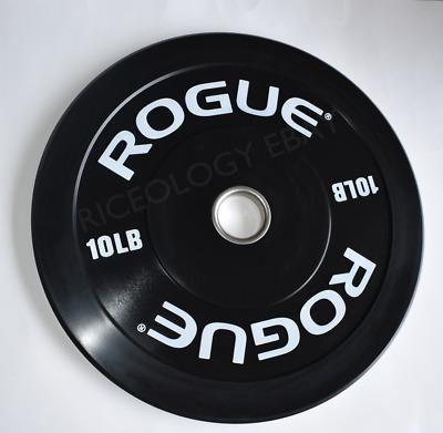 Rogue Fitness 10LB Black Echo Bumper Plates 10lb PAIR =20lb NEW V2 FREE SHIP!