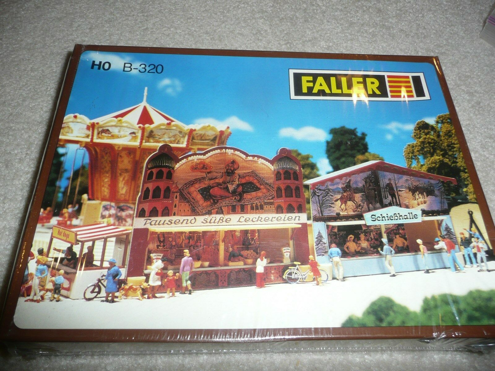 NEW Faller 2 - Midway Booths Kit HO Scale B-321   (EA-0-7009) NEW