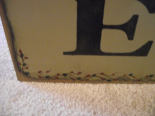 """xTRA large WELCOME sign  36/"""" wood sign primitive"""