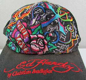Ed Hardy Christian Audigier LOVE KILLS SLOWLY TRUE LOVE Snapback ... 71504a3fba60