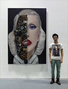 CHRISTINA-AGUILERA-BIONIC-Wall-Sculpture-Drawing-Painting-Accesories-in-Relief