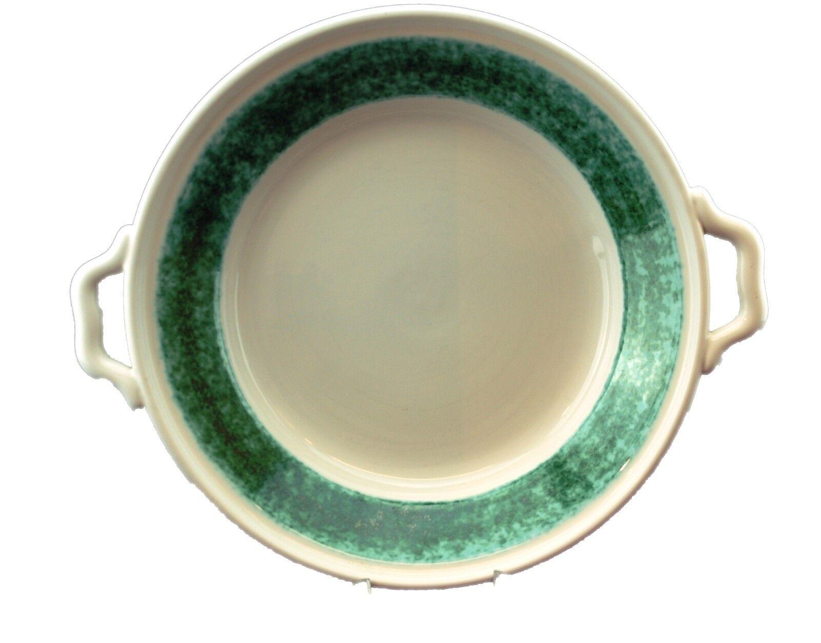 Gmundner Keramik - Moos - Wandteller oder Schüssel mit Griff