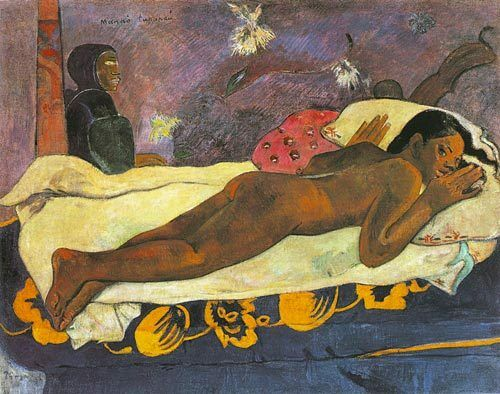 The spirit of the dead watching Paul Gauguin art CANVAS print