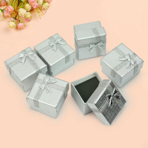 Bulk Silver 24x Square Jewelry Earring Ring Gift Display Paper Cardboard Boxes