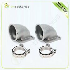 Cast 3 Vband 90 Degree Elbow Adapter Flange Kit To T4 Turbo 304 On Pair 76mm