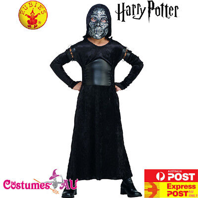 Boys Bellatrix Lestrange Death Eater Costume Harry Potter Fancy Dress Kids Child