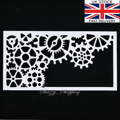 Airbrush,Craft Stencil Steampunk Stencil Steampunk Heart Stencil Card making