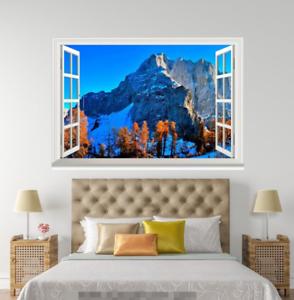 3D Takayama View 47 Open Windows Mural Wall Print Decal Deco AJ Wallpaper Ivy