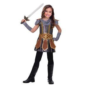 Le-ragazze-budicca-Armour-Principessa-Guerriera-Eroe-Gladiatore-Libro-Settimana-Costume