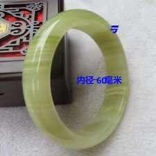 Natural Chinese Jade Hand-carved Bracelet Bangle 59mm