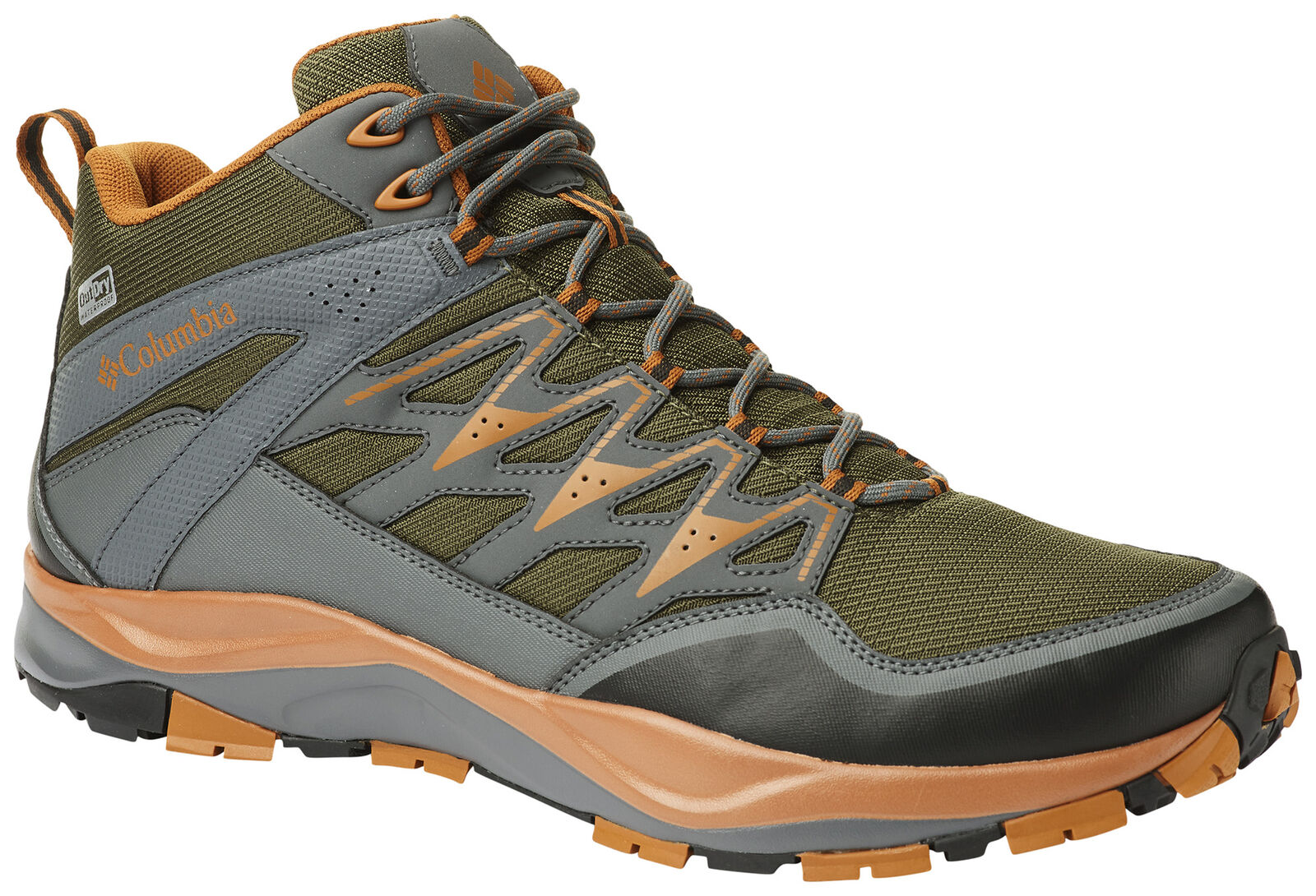 Men's Columbia Wayfinder Mid Outdry Boot Nori Bright Copper