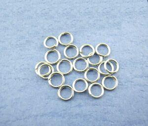 100 Anneaux double de jonction Bronze 4mm colier 4 mm ... Creation bijoux