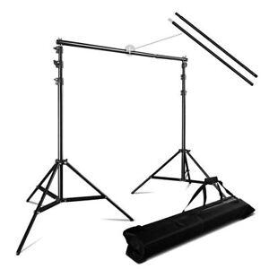 3x2-8m-Fotostudio-Hintergrundsystem-Teleskop-Hintergrund-Stativ-Set-fuer-Muslins