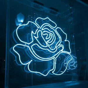 New White Rose Acrylic Lamp Bar Artwork Neon Light Sign 19 Ebay