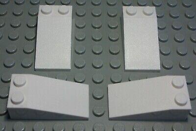 Lego Stein schräg 2x4 positiv Schwarz 4 Stück 2392