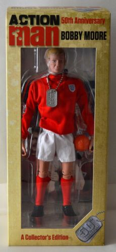 Action Man 50th aniversario AM718 Bobby Moore 1:6th Escala Figura Ltd Edition