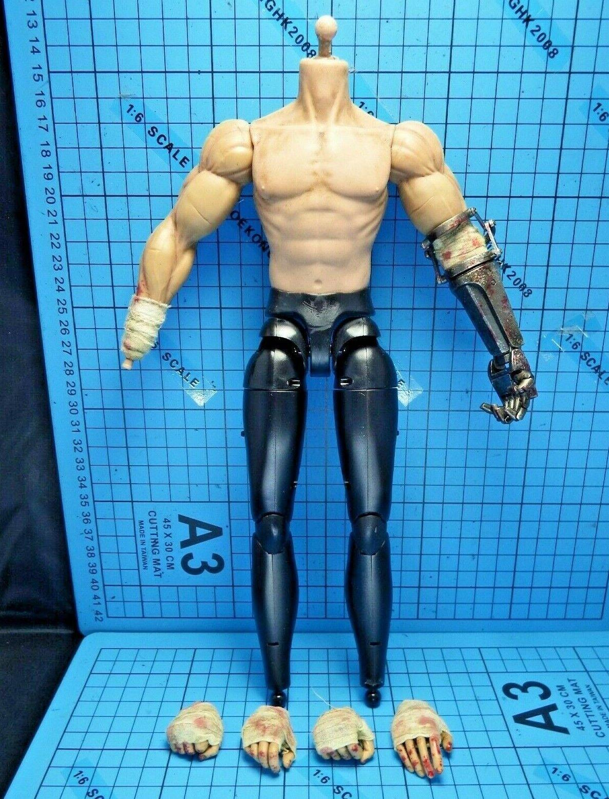 Threezero 1 6 Berserk agallas Figura-Cuerpo Muscular + Metal prótesis Izquierda antebrazo