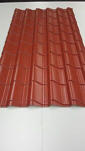 Tile Effect Roofing Sheets Terracotta 7mm Plastisol