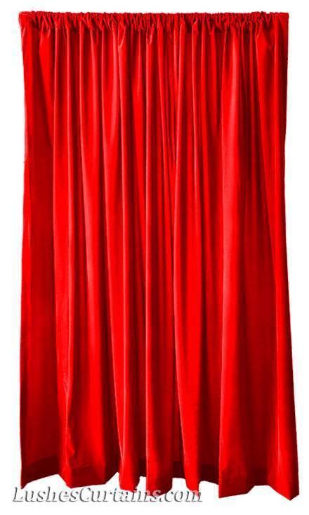 Startseite-fenster Behandlung Vorhänge leuchtend rote Samt 213cm H Vorhang Vorhang Vorhang lang 398c6a