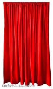 Longueur Des Rideaux fenêtre maison traitement rideaux rouge vif velours 213cm h longueur