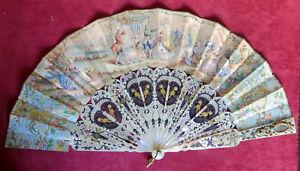 180211  Un elegante ventaglio di metà Ottocento con stecche in madreperla