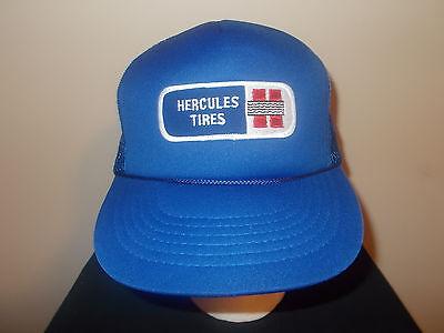 Collezione Qui Vtg-1980s Ercole Pneumatico Company Gomma Nascar Sponsor Rétro Berretto Baseball Superficie Lucente