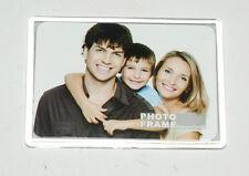 Acryl Bilderrahmen für Format 55x80mm / mit Aufsteller und Magnet (NEU/OVP)