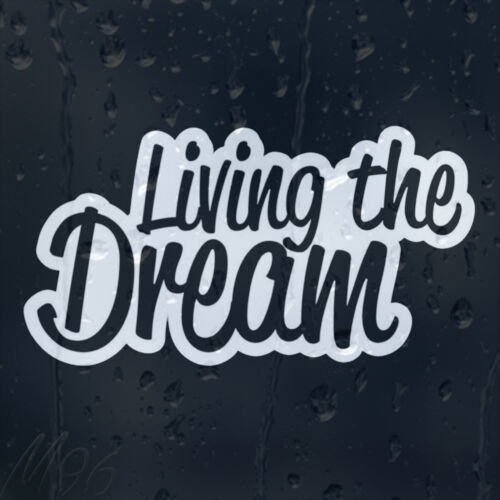 Living In The Dream Car Decal Vinyl Sticker For Window Bumper Panel