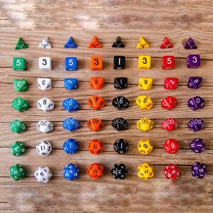 D10-Multi-Sided-Gem-Wuerfel-sterben-fuer-RPG-Dungeons-amp-Dragons-DND-D-amp-D-Spiele-WJ