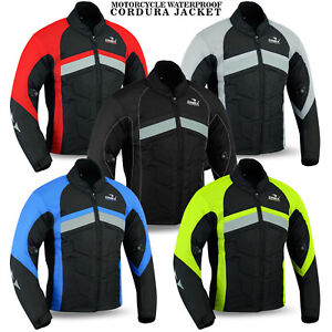 NEW-Mens-Motorcycle-Waterproof-Cordura-Textile-Jacket-Motorbike-CE-Armours