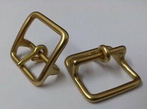 Genuine-British-Army-Horse-Guards-amp-H-Cav-Brass-1-034-Bridle-Buckles-1-Pair-STD29