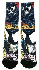 Spiderman All Over Logo Print Marvel Comics Adult Crew Socks