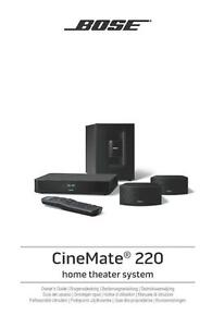 bose cinemate 220 home theater system owners guide manual rh ebay com bose cinemate manual pdf bose cinemate guide