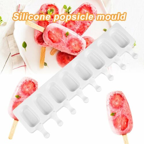 8 Cavity DIY Ice Cream Mold Popsicle Frozen Mould Silicone Cake Baking Mould AK