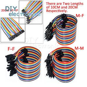 40PCS-Dupont-Wire-Jumper-Cable-2-54mm-1P-1P-Male-to-Female-10CM-20CM-30CM