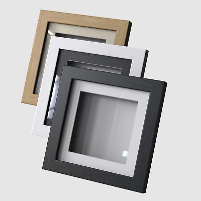 8 x 8 3D Deep Display//Craft//Casting Frame Pine Choice of 6 mount colours