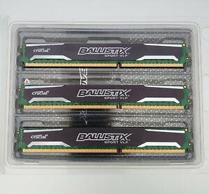 Crucial Ballistix 16Go 2X4Go + 1X8Go DDR3 1600MHz CL9 LOWPROFILE RAM